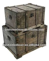 Wholesale Home Decor Pirate Treasure Chest Antique Wooden Trunk