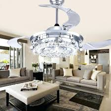 Crystal Chandelier Ceiling Fan Combo Led Dining Room Living