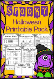 Pre K Halloween Books by October Halloween Printable Literacy And Math Worksheets Great