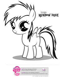 My Little Pony Baby Coloring Pages Pinkie Pie And Rainbow Dash