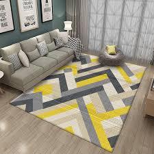 gelb weiß und grau gestreiften teppiche für home wohnzimmer schlafzimmer nordic geometrische sofa teppich kaffee tisch boden matte studie zimmer