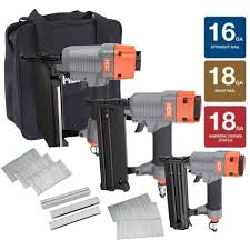 Home Depot Husky Floor Nailer by Hdx Nailer Kit With Canvas Bag 3 Piece Hdx3pfkcb The Home Depot