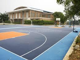 terrain de basket exterieur 3x3 terrain de basket carrelage extérieur de terrain de basket d