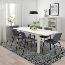 laneberg karljan tisch und 4 stühle weiß dunkelgrau dunkelgrau 130 190x80 cm