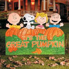Linus Great Pumpkin Image by Improvements It U0027s The Great Pumpkin Charlie Brown Metal Outdoor