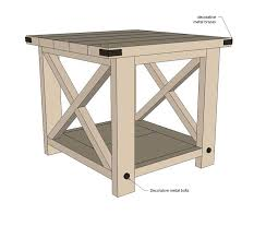 rustic x end table u2013 thelt co