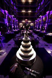 Black And Purple Baltimore Wedding Cake