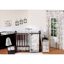 sweet jojo designs french toile crib bedding collection in black
