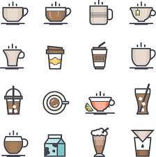 Coffee Icon Bold Stroke With Color Vector Art Illustration