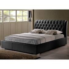 Skyline Furniture Tufted Headboard by Stylish Bianca Black Modern Queen Size Bed With Tufted Headboard