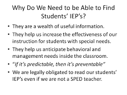 finding a student s iep on sesis ppt