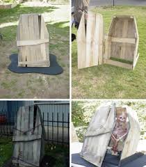 Halloween Cemetery Fence Ideas by 22 Superb Halloween Decorations Using Pallet Wood Wooden Pumpkins