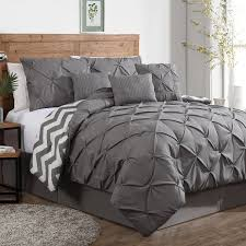 Glamorous Grey Comforter Design For Cozy Bedroom Decoration Interesting Ideas With Wooden