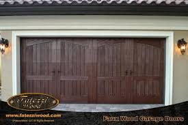 Faux Garage Door Faux Wood Grain Garage Door Painting