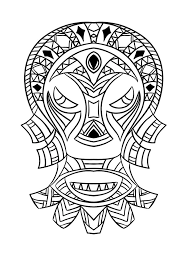 Free Coloring Page Picture Of An African Mask