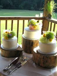 Log Cake Stand Find I Do It Rustic Hire Uk