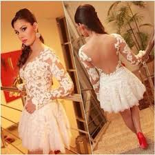 ivory long sleeve lace mini dress pictures