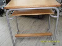 bureau d olier ancien en bois 1 place bancs d école chaises canapés 2ememain be