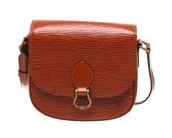 vuitton sienna brown epi leather st cloud pm crossbody bag