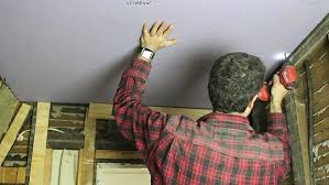 Ceiling Joist Spacing For Drywall by How To Hang Drywall Ceilings By Yourself 12 Steps With Pictures