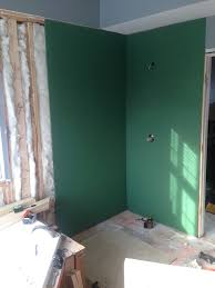 Hanging Drywall On Ceiling Joists by Your Guide To Water Resistant Greenboard Drywall Modernize