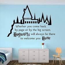 wandaufkleber schlafzimmer hogwarts castle zitat