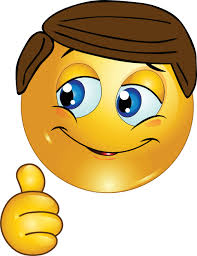 Thumbs Up Smiley Face Emoticon Clipart