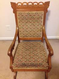 Antique Eastlake Victorian Carved Platform Rocker - 1800's ... Victorian Rocking Chair Image 0 Eastlake Upholstery Fabric Application Details About Early Rocker Rocking Chair Platform Rocker Colonial Creations Mid Century Antique Restoration Broken To Beautiful 19th Mahogany New Upholstery Platform Eastlake Govisionclub Illinois Circa Victoria Auction