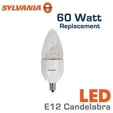led candelabra 60 watt equal sylvania led7b13c 72894 earthled