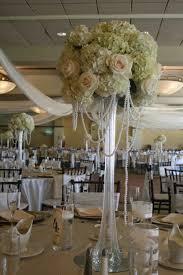 Reception Table White And Black Tall Elegant Wedding Centerpieces Cherry Blossom Hydrangea Centerpiece