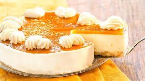 no bake frischkäse torte mit pfirsich und maracuja