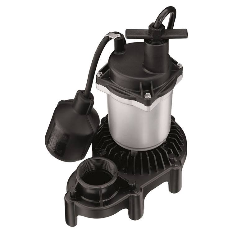 Simer 2955 Automatic Submersible Sump Pump - 1/3 HP