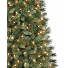 Christmas Tree 9ft Canada by Artificial Christmas Tree Pre Lit 7 U0027 Scottsdale Pine Clear Lights