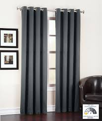 Sidelight Window Treatments Bed Bath And Beyond by Amazon Com Sun Zero Barrow Energy Efficient Grommet Curtain Panel
