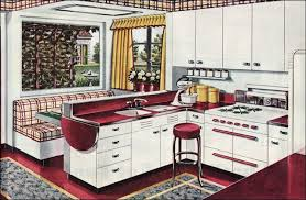 Kitchen 1940s Design And Tile Ideas By Means Of Placing Some Decorations For