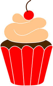Orange Birthday Cupcake Clip Art Cupcake With Candle Clip Art