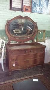 Tiger Oak Serpentine Dresser by Reduced Antique Early American Tiger Oak Serpentine Front Dresser
