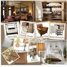 Decorating Ideas Rustic Glam Bedroom Moodboard