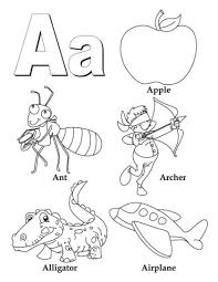 A Z coloring pages e for letter sound take down game on overhead