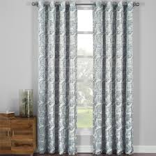 120 Inch Long Blackout Curtains by Catalina Leaf Swirl Jacquard Curtain Panels Grommet Top Set Of 2