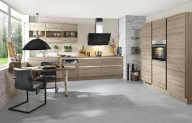 grifflose 2 zeilenküche in kunststoff eiche terra inklusive