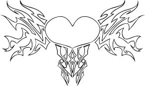 Printable Cool Heart Coloring Pages For Kids Pdf Color Free