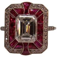 deco ruby and ring deco ruby and ring in platinum indulgence by gmomma