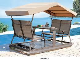 popular garden ratttan swing bed with canopy outdoor rattan