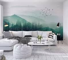 forest wallpaper landscape wall mural jungle wall