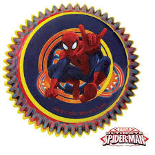 50 Spiderman Cupcake Liners Cups 2