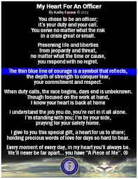 My Heart for An ficer Law Enforcement Poem Card for Police
