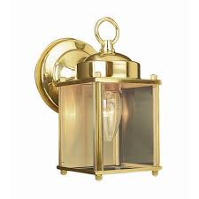 design house coach polished brass outdoor wall mount downlight