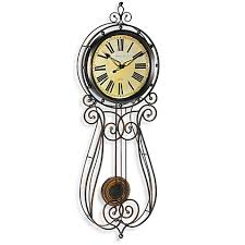 sterling noble wrought iron 32 inch regulator clock bed bath