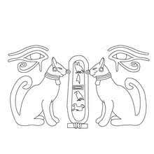 EGYPTIAN HIEROGLYPHS PAPYRUS Coloring Page